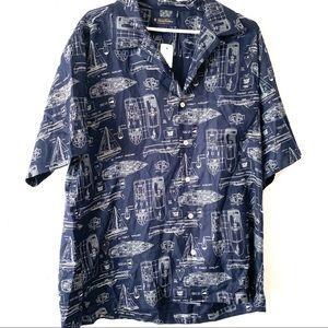 NWT Brooks Brothers Men's Large Boat Design Shirt